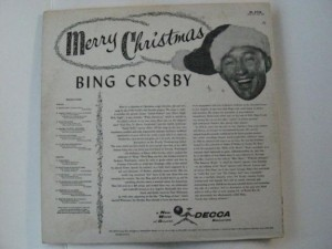 Bing Crosby - White Christmas - Back of record