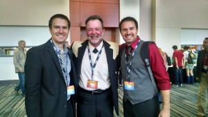 Brandon and Blake from Driven Bluegrass with Big Al at the IBMA Awards 2014