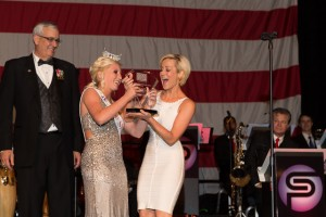 Country singer Kellie Pickler receives the Heart for the Warrior Award at the USO of North Carolina's Ninth Annual Salute to Freedom Gala in Raleigh, N.C. on Oct. 19, 2013 Photographer: Jess Isaiah Levin