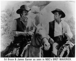 Ed Bruce with James Garner as seen in NBC Maverick (1982)