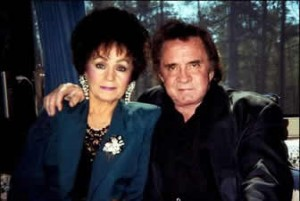 Joanne Cash Yates with her brother Johnny Cash