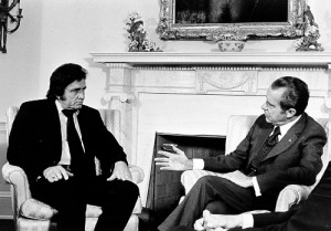 Johnny Cash and President Richard Nixon