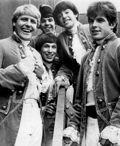 Paul Revere and The Raiders in 1967. Front - Paul Revere, Mike Smith. Center - Jim Valley, Mark Lindsay. Back - Phil Volk