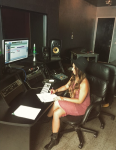 Whitney McClain - Bombs Away - writing session at studio